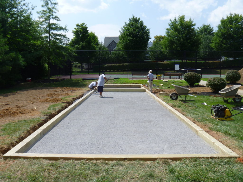 Bocce Court Surfacing