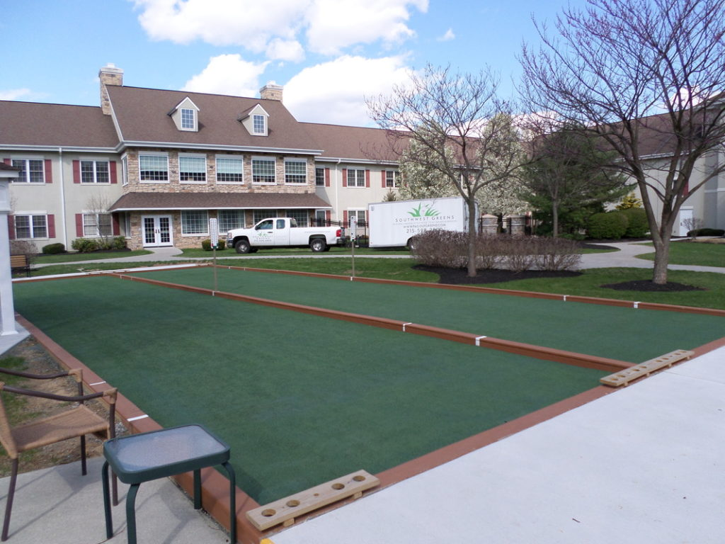 Bocce courts for retirement communities