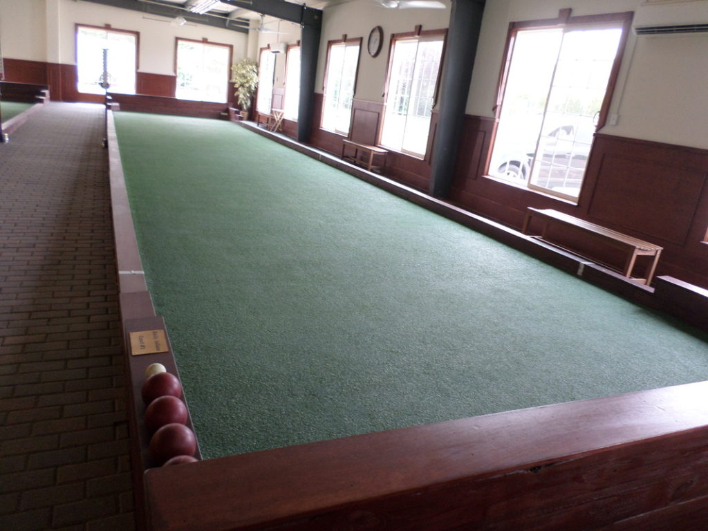 Indoor bocce courts