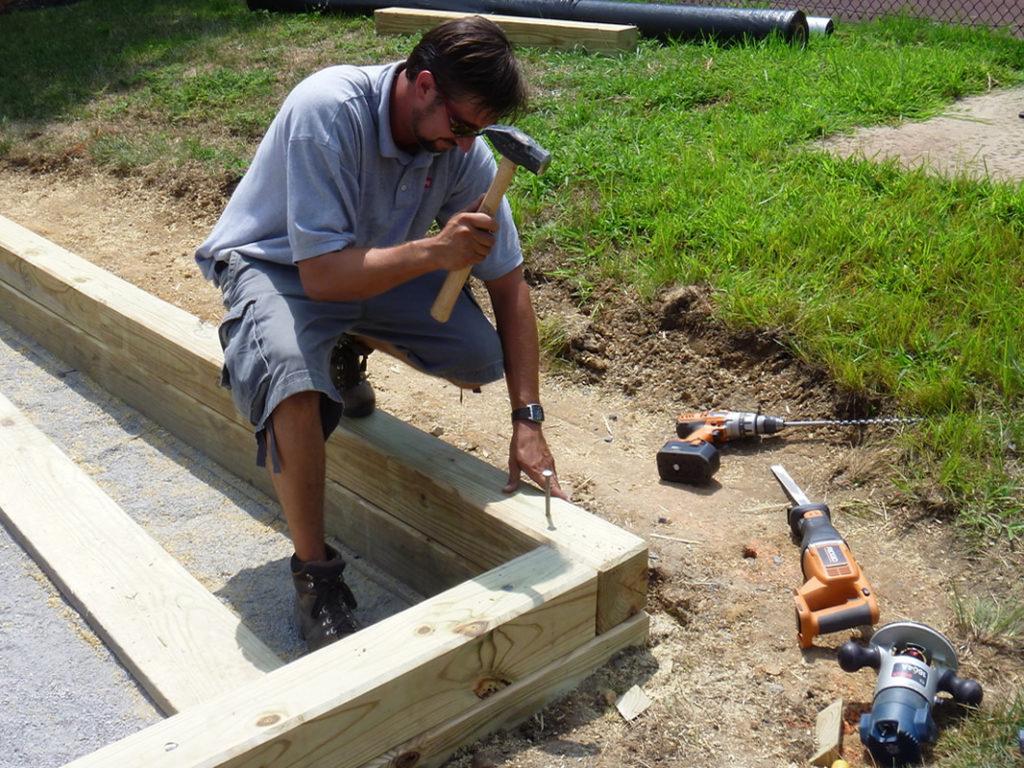 Bocce Court Construction