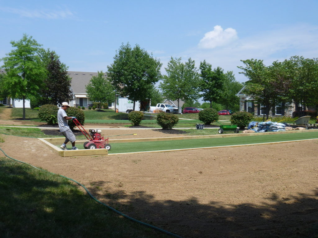 Synthetic Turf Bocce Court
